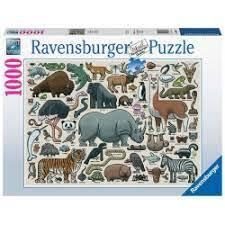 PUZZLE 1000 RAVENSBURGER YOU WILD ANIMAL