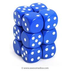 HD DICE 12D6 OPAQUE BLUE