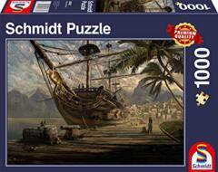 PUZZLE 1000 SCHMIDT SHIP AT ANCHOR