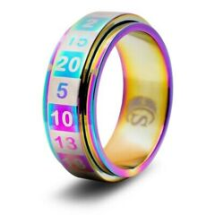 DICE RING RAINBOW 10