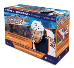 2020-21 Upper Deck Series 1 Hockey Mega Box 10 Packs + 1