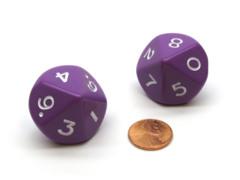 Single Opaque Jumbo D10 - Purple