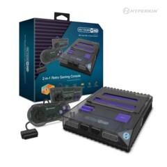 RetroN 2 HD Gaming Console for NES®/ Super NES®/ Super Famicom™ (Space Black) - Hyperkin
