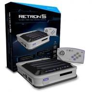 RetroN 5: HD Gaming Console for GBA/ GBC/ GB/ SNES/ NES/ Super Famicom/ Famicom/ Genesis/ Mega Drive/ Master System (Gray) - Hyp