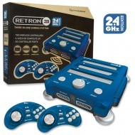 RetroN 3 Gaming Console 2.4 GHz Edition for SNES/ Genesis/ NES (Bravo Blue) - Hyperkin