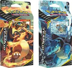 Pokemon Sun & Moon Team Up - Both Theme Decks Charizard & Blastoise (120 Total Cards!)