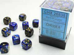 36 die Gemini Black-Blue w/Gold Dice Block - CHX26835