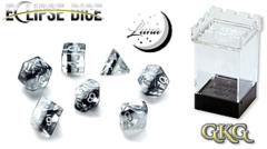 Eclipse Dice: Luna, White & Black 7 Die Set