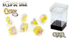 Eclipse Dice: Corona, Sweet Yellow and Gentle Amethyst 7 Die Set