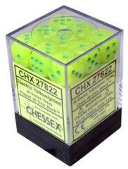 36 Vortex Electric Yellow w/green D6 Dice - CHX27822