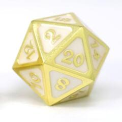 DIE HARD DICE: D20 MYTHICA SHINY GOLD WHITE