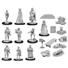 WIZKIDS DEEP CUTS UNPAINTED MINIATURES: W12 CASTLE - ROYAL COURT