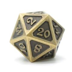 DIE HARD DICE: D20 MYTHICA BATTLEWORN GOLD