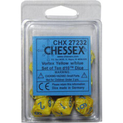 Vortex Poly D10 Yellow/Blue (10) CHX 27232