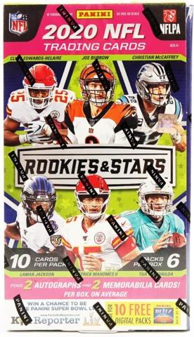PANINI - ROOKIES & STARS FOOTBALL HOBBY BOX - 2020