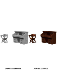 Pathfinder Battles Unpainted Minis - Desk And Chair