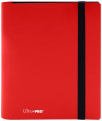 4-POCKET PRO-BINDER 20 PAGES FOR 160 CARDS: APPLE RED