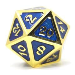 DIE HARD DICE: D20 MYTHICA GOLD SAPPHIRE
