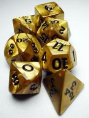 Olympic Pearlized Polyhedral 10 dice Gold