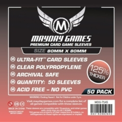 Mayday - Premium Card Sleeves 80Mm X 80Mm 50Ct