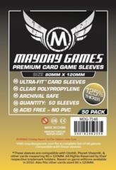 Mayday - Premium Card Sleeves 80Mm X 120Mm 50Ct