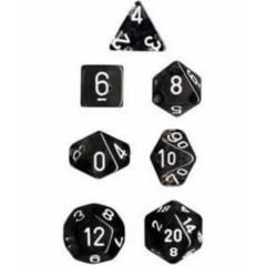 Transparent Polyhedral 10 Dices Set Smoke/White