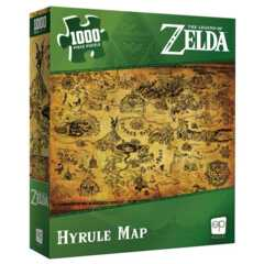 THE LEGEND OF ZELDA - HYRULE MAP - 1000 PICE PUZZLE