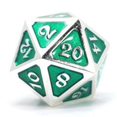 DIE HARD DICE: D20 MYTHICA PLATINUM EMERALD