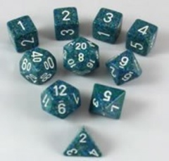 Elemental and Speckled Polyhedral 10 dice Sea