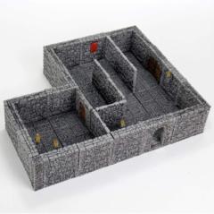 WARLOCK TILES  -  DUNGEON TILES II - FULL HEIGHT STONE WALLS EXPANSION