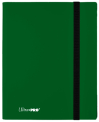 4-POCKET PRO-BINDER 20 PAGES FOR 160 CARDS: FOREST GREEN