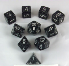 Elemental and Speckled Polyhedral 10 dice Ninja