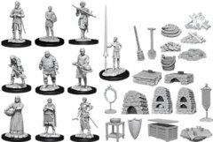 Wizkids Deep Cuts Unpainted Miniatures: Castle - Kingdom Retainers