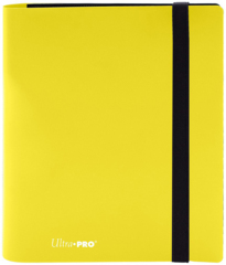 4-POCKET PRO-BINDER 20 PAGES FOR 160 CARDS: LEMON YELLOW