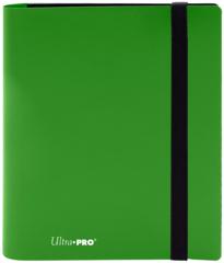 4-POCKET PRO-BINDER 20 PAGES FOR 160 CARDS: LIME GREEN
