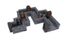 WARLOCK TILES  -  DUNGEON TILES  -  STRAIGHT WALL EXPANSION