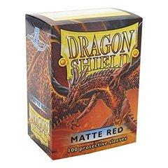 Dragon Shield Sleeves: Matte Red (Box of 100)