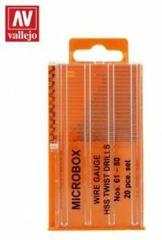 T01002 Microbox Drill Set (20) 61-80