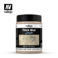 NEW 26810 Light Brown Thick Mud Texture Paint 200ml