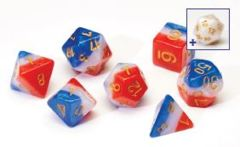 0111 Dice Set - Red White & Blue