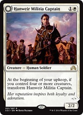 Hanweir Militia Captain // Westvale Cult Leader - German