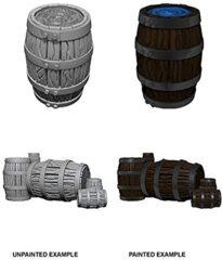 Pathfinder Battles Unpainted Minis - Barrel And Pile Of Barrels