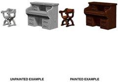 Pathfinder Battles Unpainted Minis - Desk And Chair