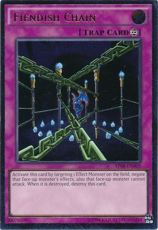 Fiendish Chain - AP08-EN003 - Ultimate Rare - Unlimited Edition
