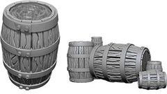 Pathfinder Battles Unpainted Minis - Barrel & Pile Of Barrels