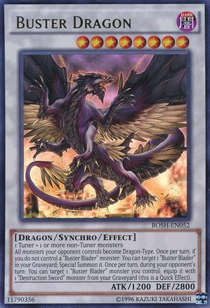 Buster Dragon - BOSH-EN052 - Ultra Rare - Unlimited Edition