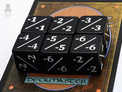 Negative Counter Dice Black