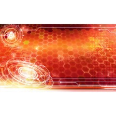 Netrunner Playmat- Digital Skyline (Red)