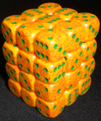 36 Lotus Speckled 12mm D6 Dice Block