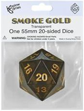 Koplow g 	55 mm Jumbo D20 Transparent Black w/ Gold